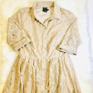 🏷 $45 Gabby Skye Lace knit Fit and Flare Dress